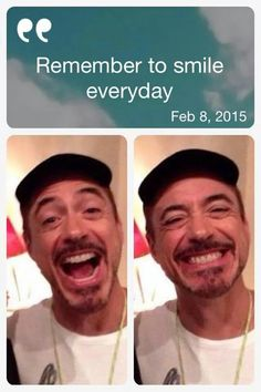 RDJ - just smile!