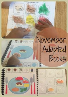Adapted Book for Thanksgiving food & smells. Activity info found at theautismhelper.com