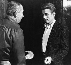 James Dean and Nicholas Ray