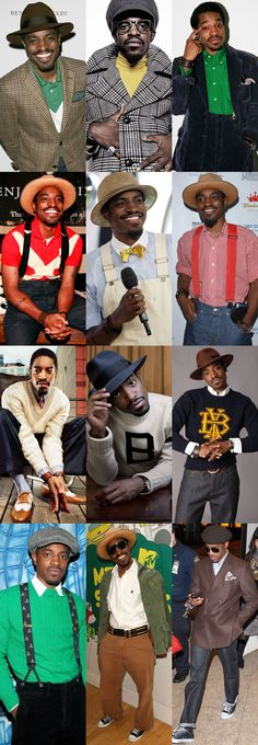 Fashion icon:André 3000 (love his ability to mix color & pattern in a comfortable style that comes off sleek & cool) - He is the original Black Dandy. Retro Fashion, Trendy Fashion, Fashion Outfits, Mens Fashion, Fashion Designer Quotes, Fashion Designers, Andre 3000, Celebrity Style Casual, Fashion Wallpaper