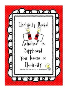 These are printable activities to supplement your unit on Electricity. Files include:  Electricity Vocabulary Cards KWL pages List/Draw 3 Things in Classroom that work with a battery List/Draw 3 Things in Classroom that work with a plug Dangers of Electricity Activity Vocabulary pages for writing definitions of all vocabulary words included in this packet Positioning Batteries correctly in flashlight Activity Sorting Activity -Use/Does not Use Electricity Matching Activity - plug vs.