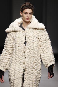 Virgin wool hand woven jacket. MIRIAM PONSA FW'11-12