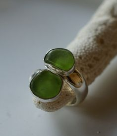 Sea Glass Ring by Seaglasssoul on Etsy, $125.00