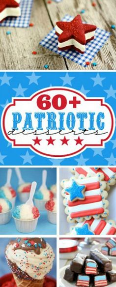 EASY 4th of July desserts -pinned by wedding decor specialists http://dazzlemeelegant.com