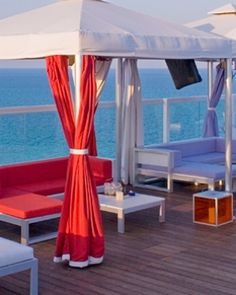 Perry South Beach   ( Miami Beach, Florida ) The hotel offers teepees and cabanas at a private beach club. #Jetsetter