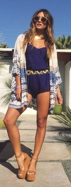 Printed Kimono Coachella Style