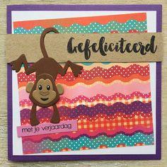 LindaCrea: Eline's Beestenboel #30 - Happy Monkey