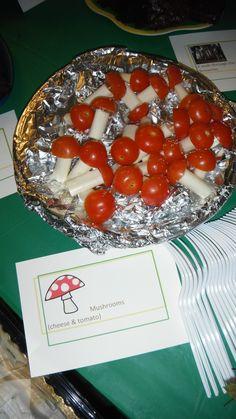 Cheese and tomato mushrooms