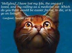 This was my favorite saying from Leafpool , so sad