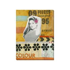 A fun conglomeration of visual stimulation, the She Wore Flowers Canvas Print…