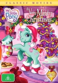 My Little Pony - A Very Minty Christmas My Little Pony Minty, Care Bear Costumes, Christmas Poster, Popular Anime, Classic Movies, Taiwan, Smurfs, Princess Peach, Childhood