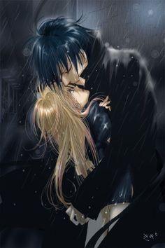 Cain and Setsuka Heel - Kyoko Mogami and Ren Tsuruga/Kuon Hizuri. Skip Beat! manga fanart YESSSSSSSSS <3