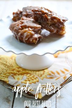 Apple Fritters Recipe- Our Best Bites - Add these to donut recipes!
