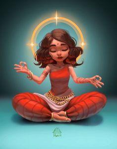 Girl illustration art sketches animation 28 Ideas for 2019 Cartoon Pics, Girl Cartoon, Cartoon Art, Character Design Cartoon, Character Art, Art Du Croquis, Indian Illustration, Art Mignon, Indian Art Paintings