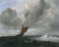 Jacob van Ruisdael - Stormachtige zee met zeilschepen