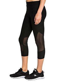 Leggings For Girls RBX Active Women's Power Capri Length Legging with Mesh Blocking