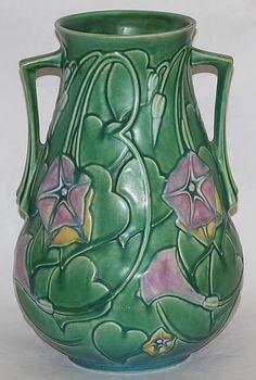 Roseville Pottery Morning Glory Green Vase