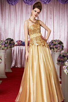 ゴージャスです! ゴールド系ハイグレードロングドレス♪ - ロングドレス・パーティードレスはGN|演奏会や結婚式に大活躍!