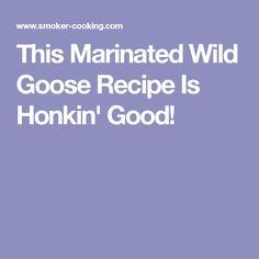 This Marinated Wild Goose Recipe Is Honkin' Good!