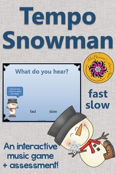 Tempo (fast or slow)? Your elementary music students are going to love this interactive music game! Be prepared for your classes to giggle and move! Great activity to add to your Orff and Kodaly lesson plans.