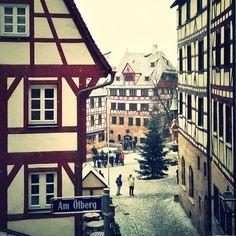 Altstadt: Am Ölberg mit Blick auf das Dürer Haus