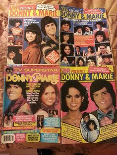 4 Donny and Marie Osmond Magazines Complete EX