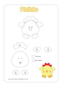 Farm animals- chick template- no link.
