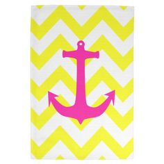Shop Neon Pink Nautical Anchor Yellow Chevron Pattern Paper Plate created by girly_trend. Chevron Anchor, Yellow Chevron, Nautical Anchor, Anchor Print, Nautical Style, Wall Stickers, Wall Decals, Anchor Paper, Anchor Wallpaper
