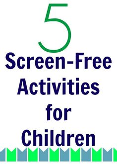 5 Screen-Free Activities for School Age Kids || The Chirping Moms