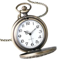 Classic Vintage Retro Pocket Watch Chain Quartz Pendant Antique Necklace US Chicanas Tattoo, Tattoos, Steampunk Pocket Watch, Quartz Pocket Watch, Watches Photography, Skeleton Watches, Old Clocks, Watches For Men, Antiques