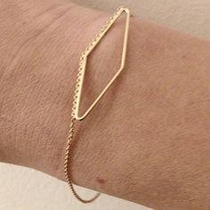 Contour bracelet, Trapezoid, 18 ct gold