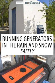 Protecting your generator from the elements is a must, but you cannot put it inside your house or garage - you need a specialized enclosure. #DIY #generator #selfreliance #offgird Plastic Sheds, Diy Generator, Running In The Rain, Wind Direction, Combustion Chamber, Wooden Sheds, New Life, Weather Conditions, Homesteading