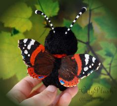 "Vanessa butterfly By Alina Biliakova - Bear Pile Stuffed Butterfly 4.3 inches (11 centimeters) Meet, it's Vanessa a butterfly. Vanessa is a butterfly ""red admiral"", or "" Vanessa atalanta"", a very bright and showy butterfly."