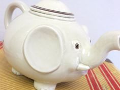 Vintage Elephant Teapot by Fitz and Floyd  1970's by plankandpearl, $21.30