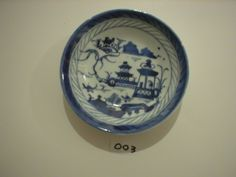 From the Archives of Chatham Historical Society: Blue and white saucer, Chinese Export Canton, Marks - OHIHA. #atwoodhouse, #china, #chatham, #chathamtochina, #capecod, #chathamhistoricalsociety, #chinatrade, #saucer