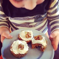 Mini raw carrot cheesecakes #vegan
