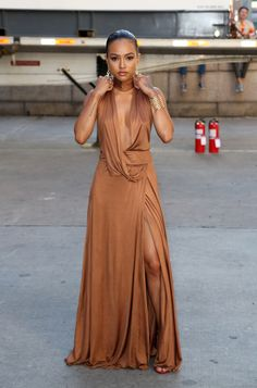 "celebritiesofcolor: ""Karrueche Tran arrives at the 7th Annual amfAR Inspiration Gala New York in NYC """
