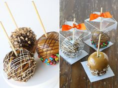 How to Make Gourmet Caramel Apples - gluten free do-ahead desert recipes - recipe for picnic picnics barbeque barbeques that can be left outside and made ahead of time - desserts for a crowd - hosting a backyard bbq - 4th of July - Father's Day ideas -  Glorious Treats