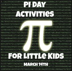 Some of the Best Things in Life are Mistakes: PI Day Activities for Little Kids http://bestlifemistake.blogspot.com/2013/03/pi-day-activities-for-little-kids.html