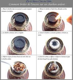 Comment brûler de l'encens sur un charbon ardent