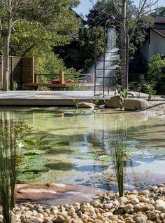 Entre na onda das piscinas naturais Livres de químicos, elas são tendência para curtir os dias quentes. Os três projetos a seguir imitam a natureza em oásis particulares