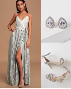Winter Weddings, Outfit Ideas, Ice, Formal Dresses, Silver, Outfits, Accessories, Shopping, Fashion