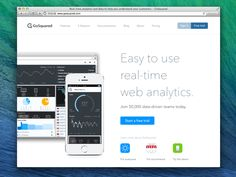GoSquared homepage for May 2014