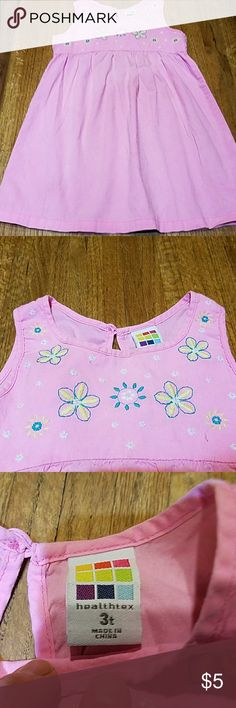 Sweet girl's  dress Gently loved sleeveless midi dress with princess waiste abd embroidered flowers on top. Three barely noticable very tiny stains near botton on left side. See picture. healthtex Dresses Casual