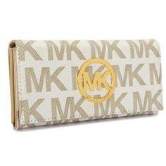Michael Kors Flat Continental Large Ivory Wallets