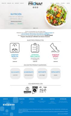 diseño web para centro PRONAF #diseñoweb #webdesign #branding #diseñointegral