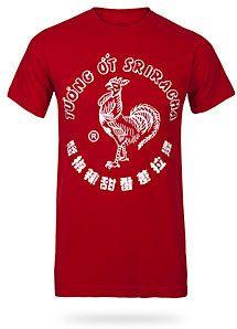 3ebe8fef90d  ThinkGeek  ThinkGeek  Sriracha  Rooster Sriracha Rooster Tee http   www