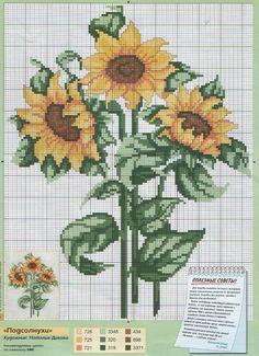 Sunflower cross stitch