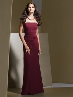 In Burgandy - Dessy Bridesmaid Style 2723 http://www.dessy.com/dresses/bridesmaid/2723/#.UnJtkfmsi-0