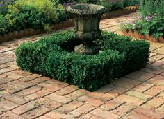 old stone and brick garden   Antique Brick Basket Weave and Dogtooth Brick Edging